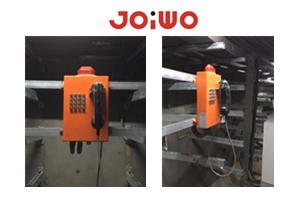 Joiwo  JWAT203 vandal resistant  public  Telephone with ring Flasher (lamp) was  installed In Indoniesia