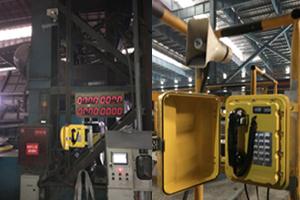 Ningbo Joiwo industrial Explosionproof telephone system JWBT811 in steelworks / steel plant
