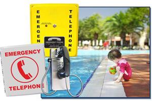 Industrial emergency pool phones