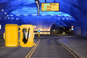 Tunnel emergency telephone system for  emergencies service