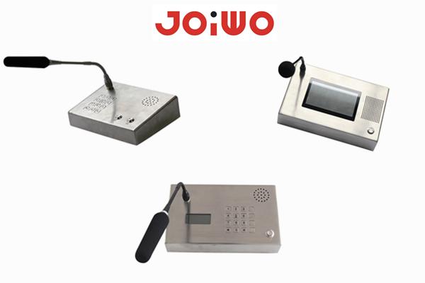 Introduce of  Silver Noise-Free Dual-Way Audio Bank VOIP  Interphone desktop Intercom JWDT661-663