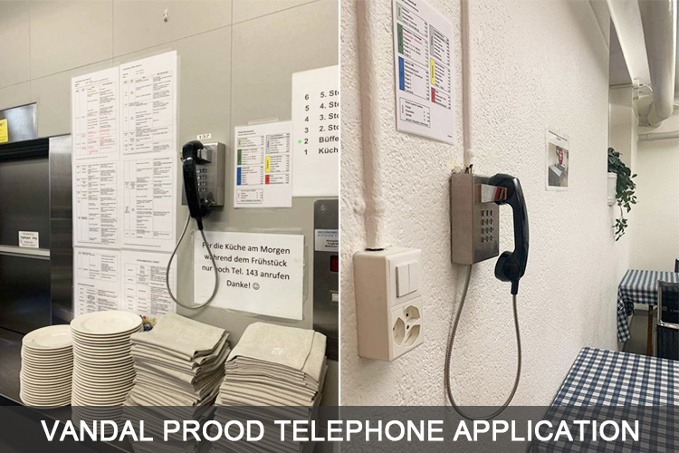 Our JWAT145 Industrial vandal proof telephone analog telephone was installed at Switzerland