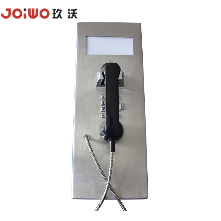 big size Indoor outdoor Industrial stainless Steel Compact analog telephones for jail and inmate - JWAT147