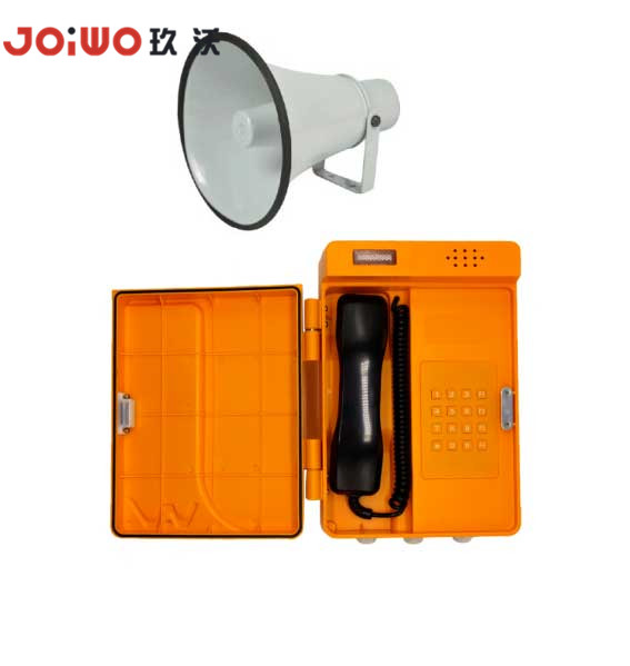Industrial IP66 railway waterproof loudspeaker flashlamp plastic telephone