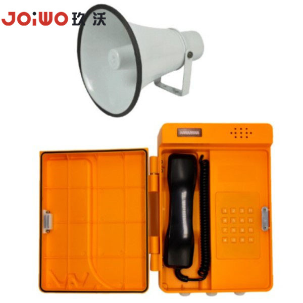 IP66 rain proof water impact resistant loudspeaker tunnel industrial telephone