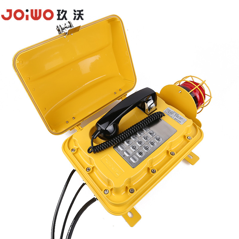 Waterproof Telephone with Warning Lighting for Highways