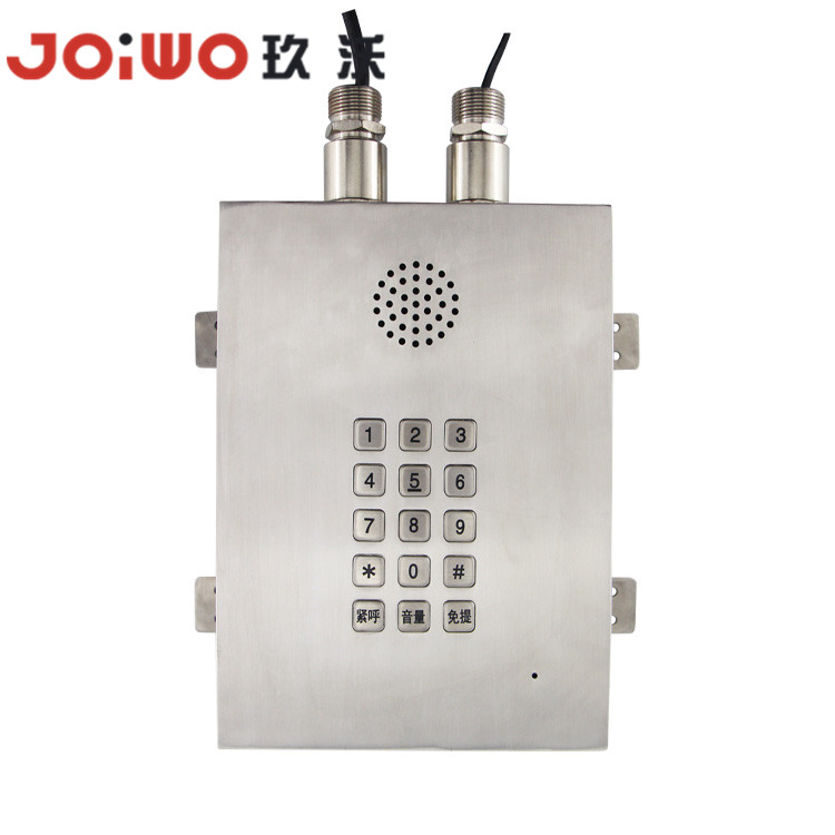 stainless steel IP67 explosionproof handsfree speakerphone telephone for mine -JWAT813