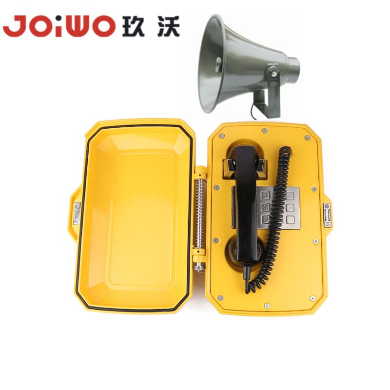 Yellow DTMF/LD VOIP IP SIP revolving lamp Weatherproof Commander telephone
