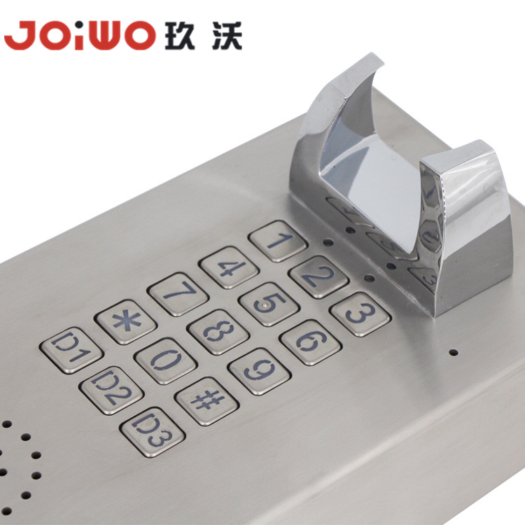 Vandal resistant stainless steel direct connect telephone