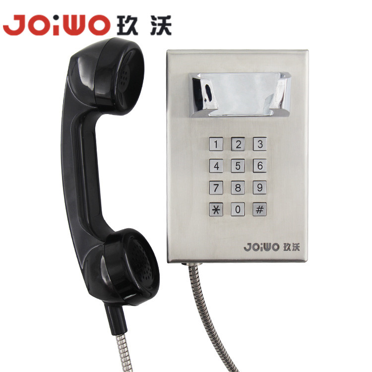 Mini size Stainless Steel inmate prisoner patient telephone with Dial Pad - JWAT145
