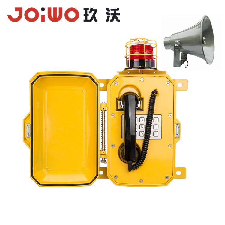 Nyt designet paging-system Anti-Weather Telefon med hornhøjttaler og advarselslys - JWAT307
